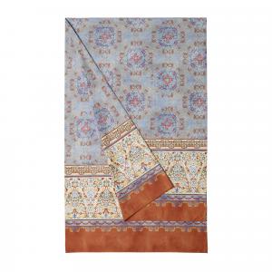 Bassetti Granfoulard telo arredo LUINI v.3 azzurro puro cotone - 350x270 cm