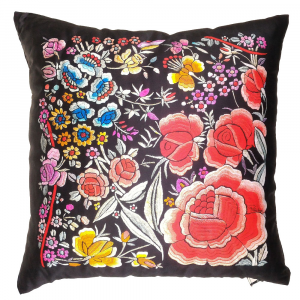 Cuscino decorativo ROBERTO CAVALLI 40x40 cm in raso ENCHANTED GARDEN rosso
