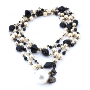 Necklace Furla MEDEA 194975 ONYX+WHITE COTTON