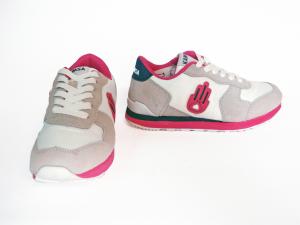 Sneaker grigio/fuxia Kamsa