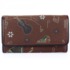 Woman wallet Braccialini JACQUARD B7223 JAQ Ruggine