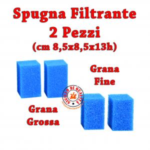 Spugna filtrante Blu Bios FoamBios - Grana Grossa e Fine 2 pezzi