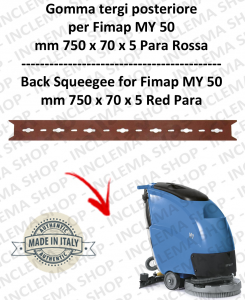 My 50  Gomma tergipavimento posteriore per lavapavimenti FIMAP s/n 211014837