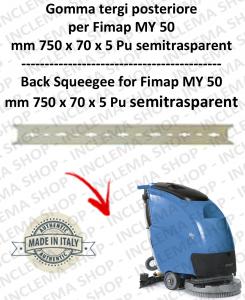 MY 50 Hinten Sauglippen für Scheuersaugmaschinen FIMAP Pu trasparent