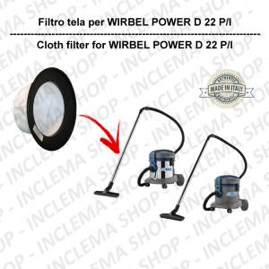 Filtre Toile pour aspirateur WIRBEL modèle POWER D 22 P / I