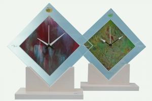 Orologio in vetro o specchio d'appoggio o da parete