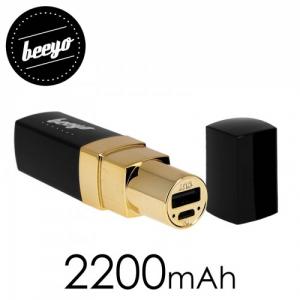 """Batteria portatile a forma di rossetto """"Lipstik"""" 2200 mAh"""