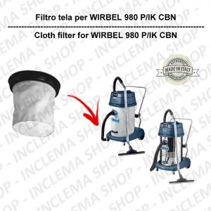 980 P/IK CBN FILTRO TELA PER aspirapolvere WIRBEL