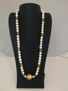 Collana perle e vetro Murano
