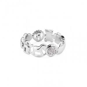 ROSATO-Anello da donna in argento.Misura 14