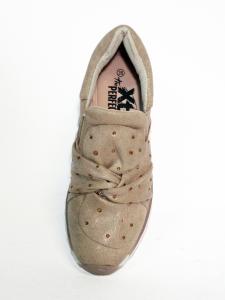 Sneaker beige con nodo Xti
