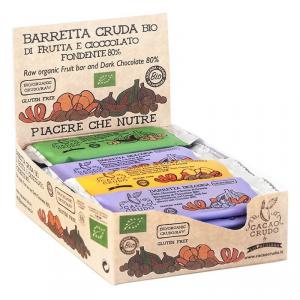 Confezione da 16 Barretta Fichi E Nocciole Ricoperta Di Cioccolato Fondente 80% Bio