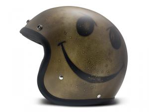 Casco Jet DMD Handmade Vintage Smile in carbonio Oro Scuro