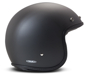 Casco Jet DMD Leather Vintage Pillow in carbonio Nero Opaco Nero