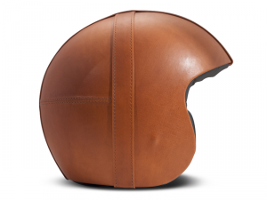 Casco Jet DMD Leather Vintage Bowl in carbonio Arancio Scuro