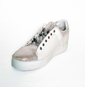 Sneaker bianco/cipria o bianco/argento Apepazza