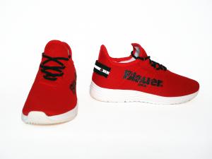 Sneaker in tessuto rossa o nera Blauer