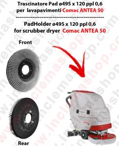 ANTEA 50 Standard Brosse  in PPL 0,60 Dimensions ø 495 X 120 3 pioli pour autolaveuses COMAC