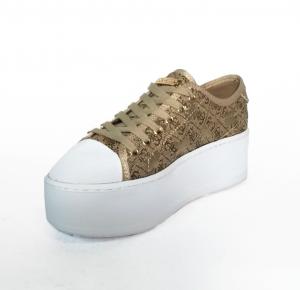 Logata Sneaker Guess Con Beige Para Alta HD9E2IWY