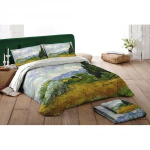 Set lenzuola matrimoniale 2 piazze Quadri D'Autore - CAMPO DI GRANO Van Gogh