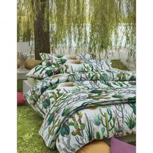 Set lenzuola matrimoniale 2 piazze percalle AGAVE verde