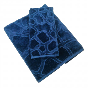 Roberto Cavalli set 1+1 asciugamano e ospite JERAPAH spugna di puro cotone- blu