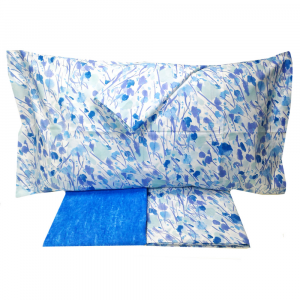 Set lenzuola-copriletto matrimoniale 2 piazze SOMMA EOLO blu