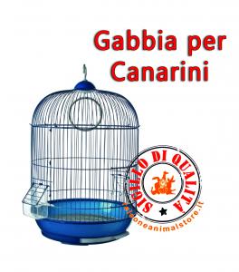 Gabbia completa per canarini Vercelli Blu 53 x 33 Ferribiella