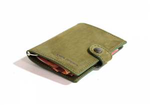 IClutch nubuk classic/coins - verde militare