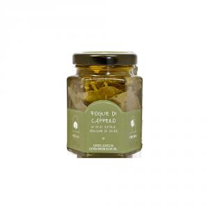 Foglie di cappero in olio extra vergine di oliva - 100gr