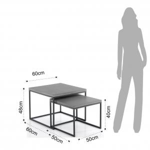 set 2 tavolini TADAO SQUARE