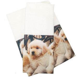 Coppia di asciugamani set 1+1 in spugna CANI var. 14 stampa digitale