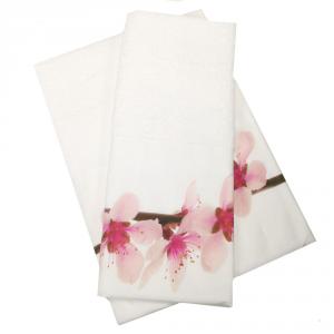 Coppia di asciugamani set 1+1 in spugna PESCO var.31 stampa digitale