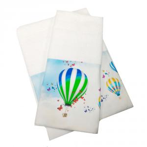 Coppia di asciugamani set 1+1 in spugna MONGOLFIERE var.28 stampa digitale