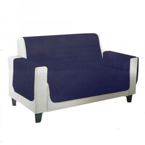 Copripoltrona trapuntata Relax scudo - 1 posto - blu notte