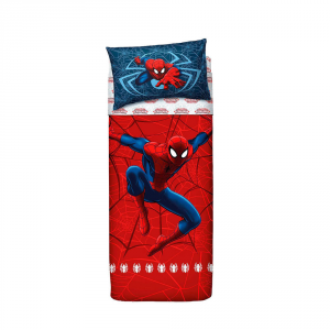 Completo lenzuola letto singolo Uomo Ragno BASSETTI SPIDERMAN rosso
