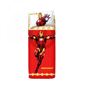 Set lenzuola letto singolo 1 piazza BASSETTI AVENGERS Iron Man