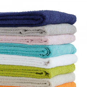 Coppia di asciugamani set 1+1 in spugna BASSETTI DREAM tinta unita