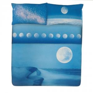 Set lenzuola matrimoniale Stelle Gabel MOON blu stampa fotografica