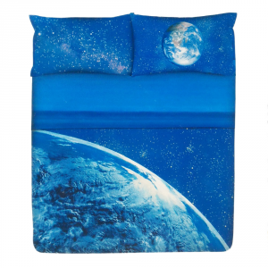 Set lenzuola matrimoniale Stelle Gabel EARTH blu stampa fotografica