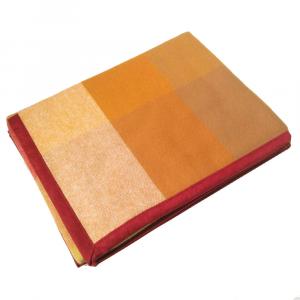 Coperta in pura lana 210x250 MARZOTTO-LANEROSSI Pamela arancio e blu