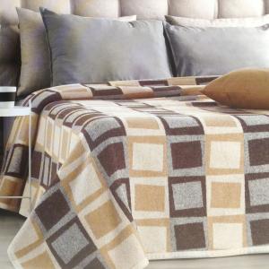 Coperta in misto lana 210x250 cm MARZOTTO-LANEROSSI Acireale marrone