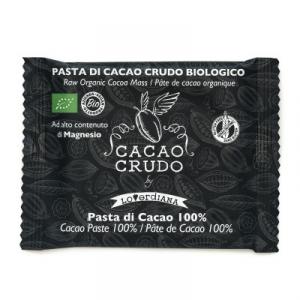 TAVOLETTA DI CIOCCOLATO CRUDO BIOLOGICO FONDENTE 100% - 30 g