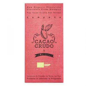 TAVOLETTA DI CIOCCOLATO CRUDO BIOLOGICO FONDENTE CON LAMPONE - 50 g