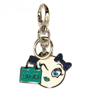 Key ring Liu Jo EMOJI A17154 A0001 WHITE COTTON