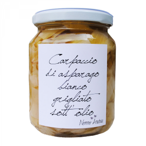 Carpaccio di Asparagi Bianchi Grigliati sott'Olio - 140gr