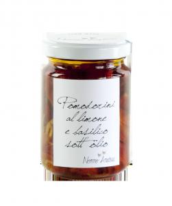 Pomodorini sott'Olio al Limone e Basilico  - 140gr