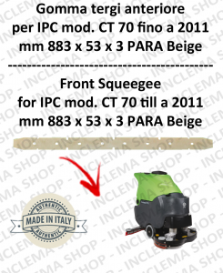 CT 70 fino a 2011 goma de secado delantera para fregadora e lavasciuga IPC