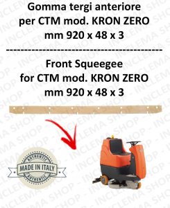 KRON ZERO Squeegee rubber Scrubber dryer front for CTM