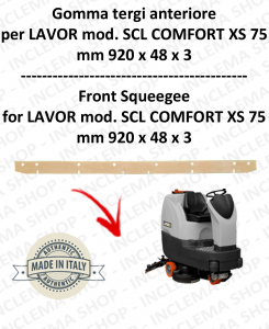 SCL COMFORT XS 75 Squeegee rubber Scrubber dryer front for LAVOR PRO